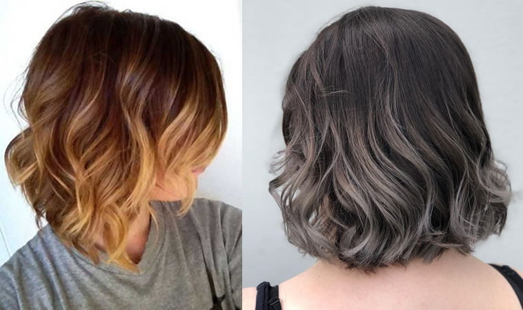 ombre short hair 2019