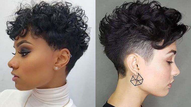 2019 Pixie curly hair