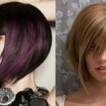 Asymmetrical short bob haircut 2019