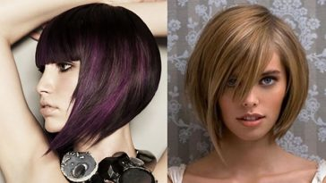 Asymmetrical short bob haircut 2019