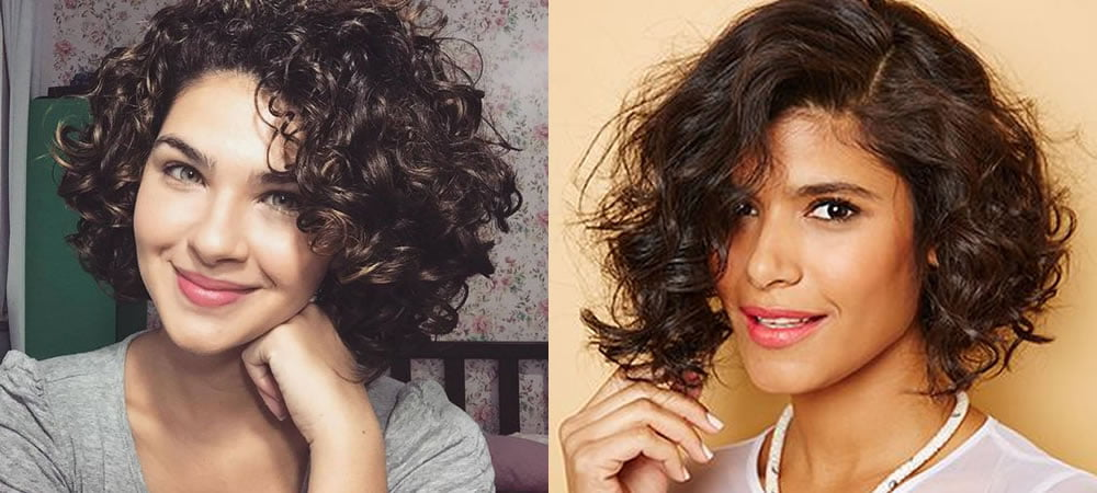Short curly hair style for women