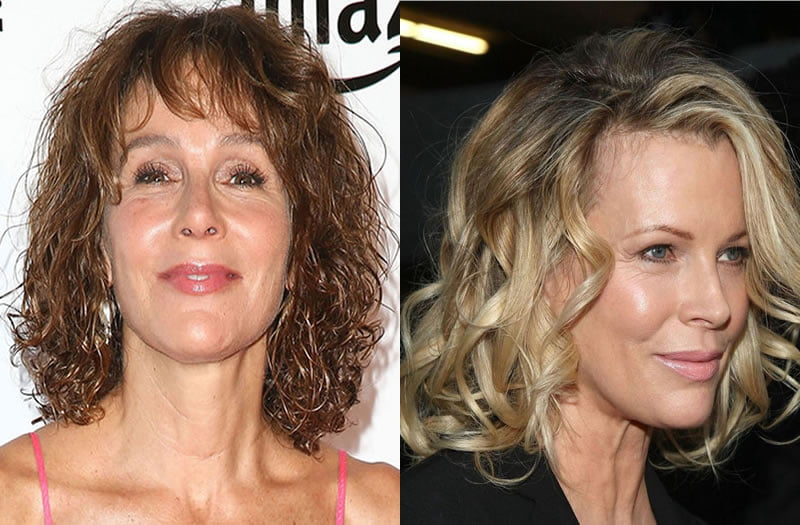 Curly medium haircuts for older women over 60