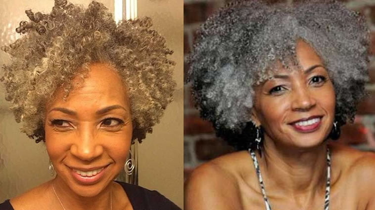 Curly natural hairstyles for older black woman