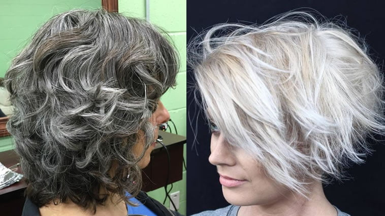 bob haircut grey hair color 2019