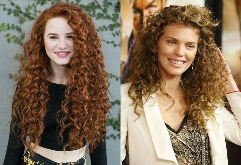 Long curly haircuts 2019-2020