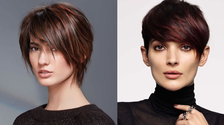 Asymmetrical short bob haircut 2020