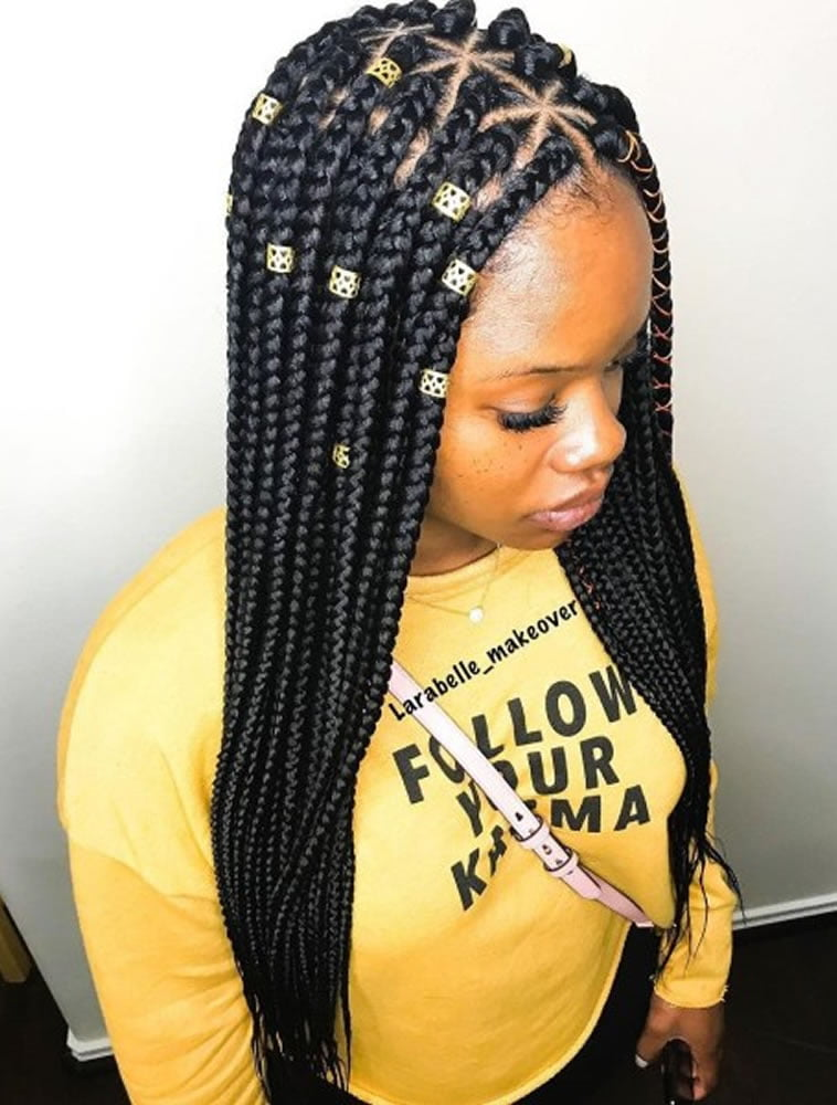 Trendy Box Braids Hairstyles For Black Women Page 2