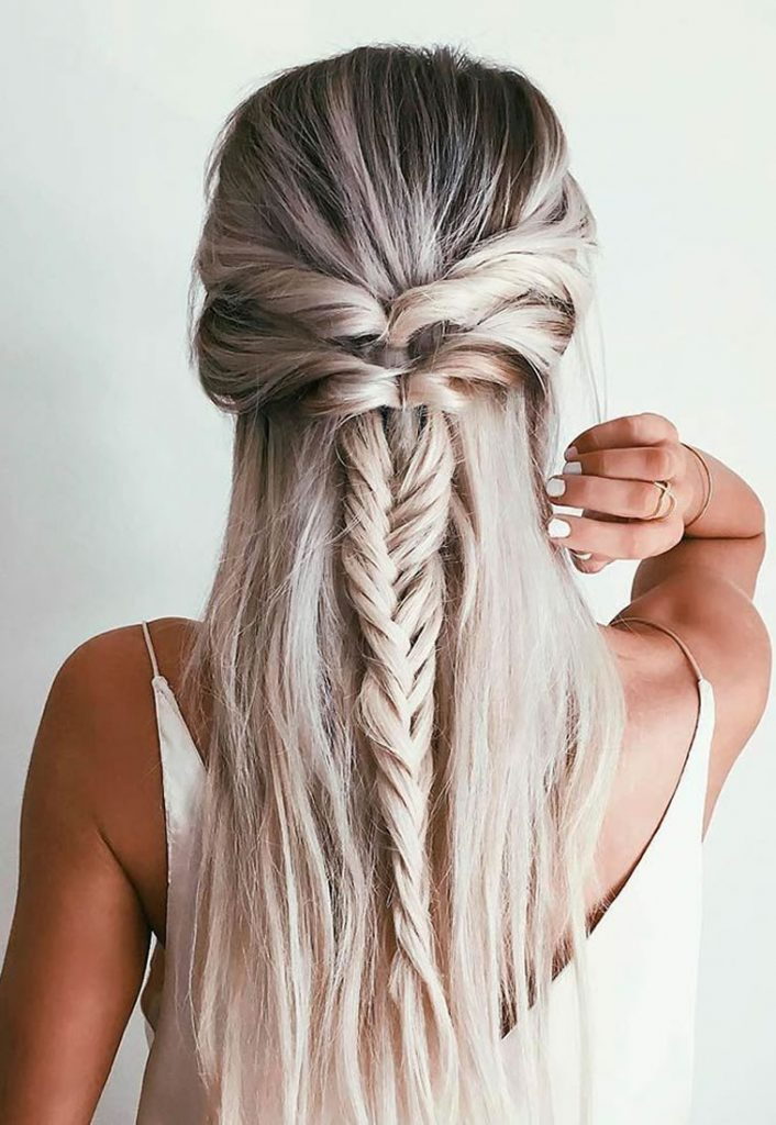 Braided long hairstyles