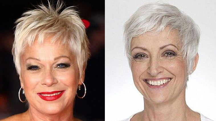 short hairstyle for older ladies over 50