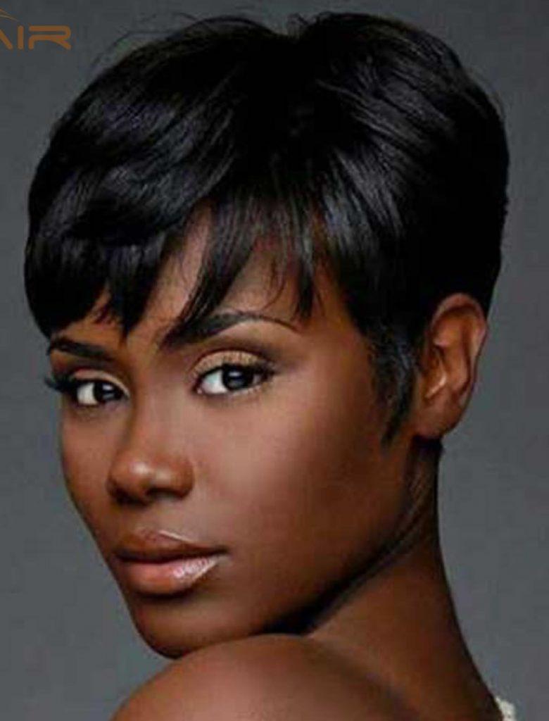 African american women's pixie short haircut 2019