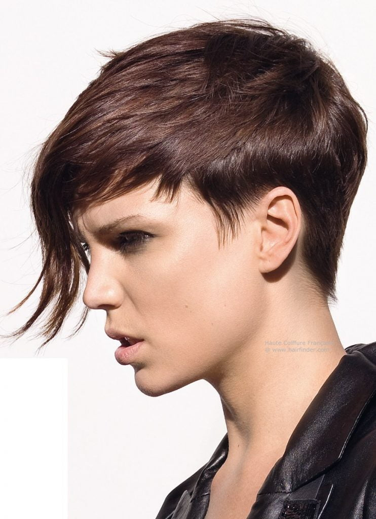 pixie haircut with long bags 2020-2021
