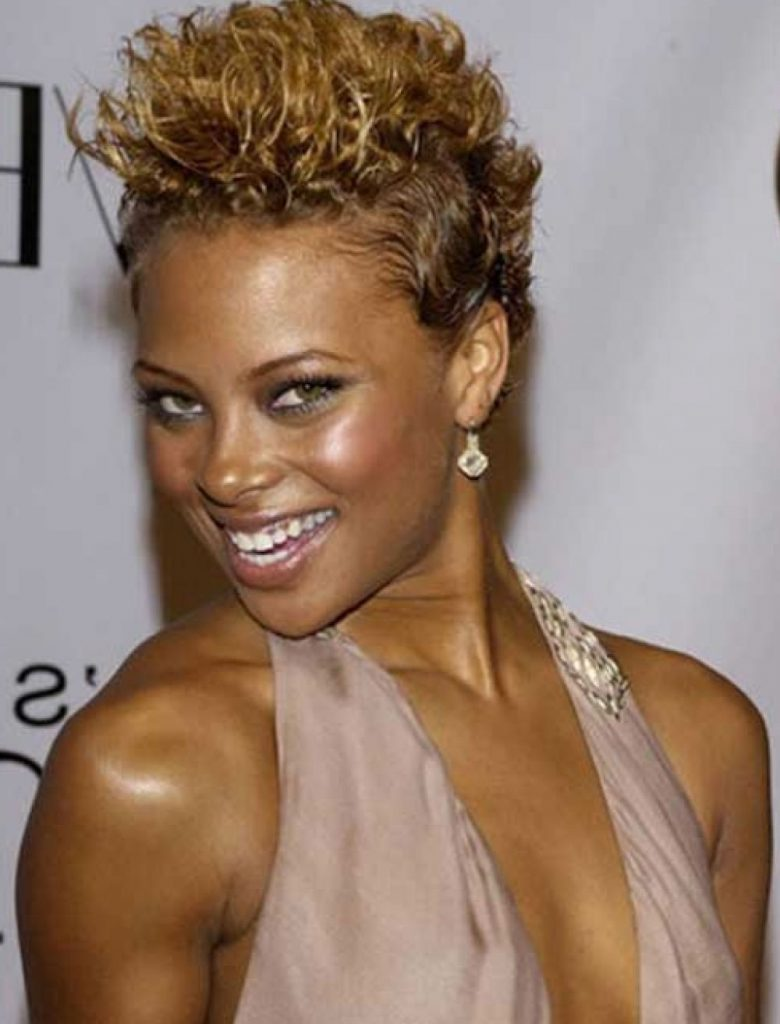 Mohawk short curly hairstyle