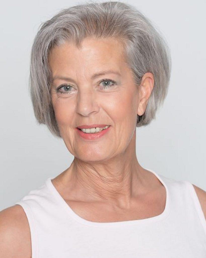 Short bob haircut for older women over 60