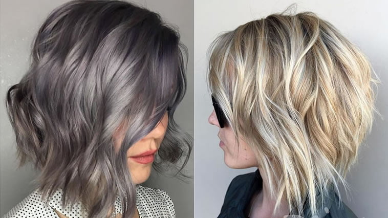 Short bob haircuts and hair colors 2019-2020