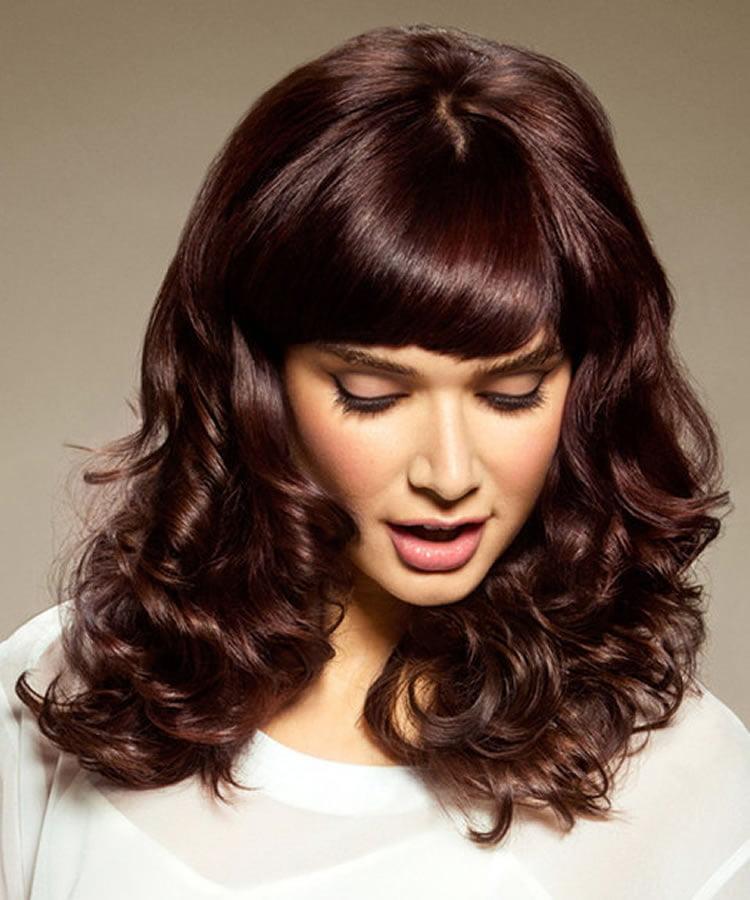 medium length curly hairstyle