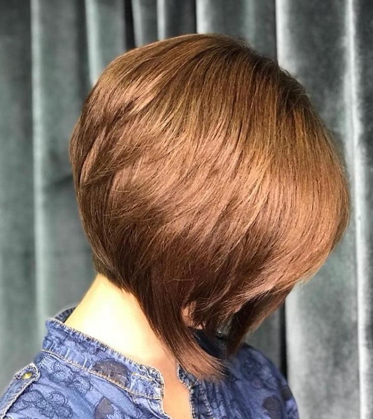 Asymmetrical short bob style 2020