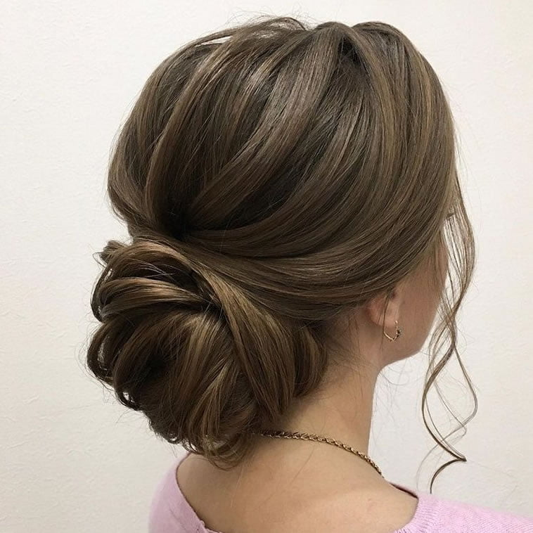 30 Stunning Wedding Hairstyles Ideas In 2019: 20 Inspiration Low Bun Hairstyles For Wedding 2019-2020