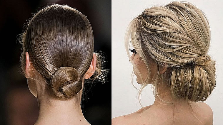 Top 20 Wedding Hairstyles For Medium Hair: 20 Inspiration Low Bun Hairstyles For Wedding 2019-2020