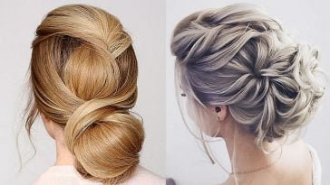 Bun hairstyles for wedding or party hair 2020