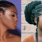 Ghana braids long hairstyle for black women 2019-2020
