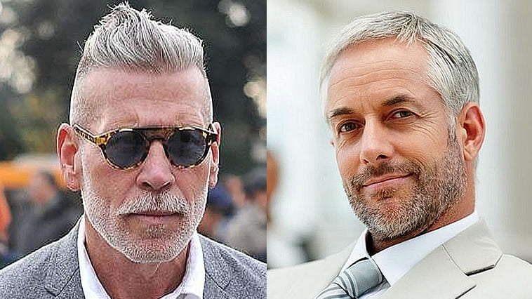 Grey Short Haircuts for Men Over 40 for 2019-2020