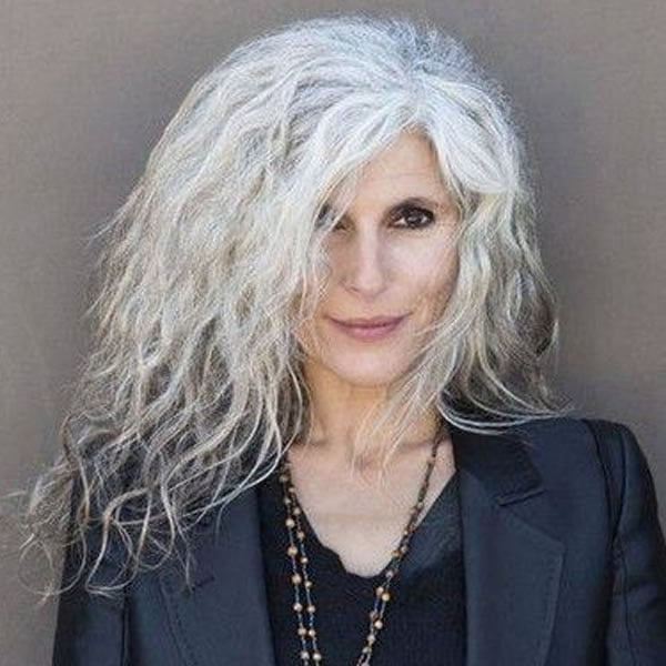 Long hairstyles & colors for older women over 60 for 2020