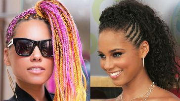 Alicia Keys hairstyles and hair colors 2019-2020