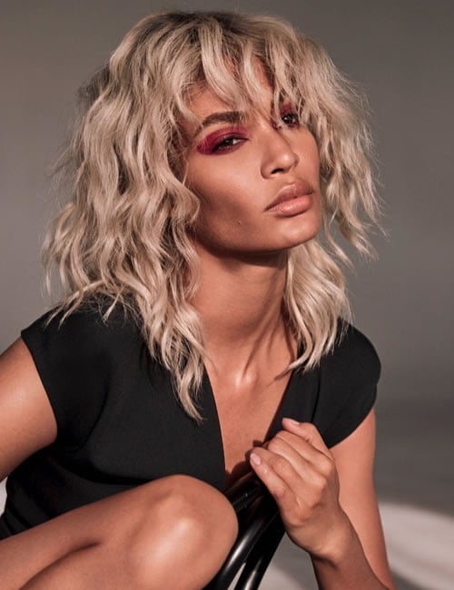 Blonde balayage curly hairstyle for black women 2019-2020