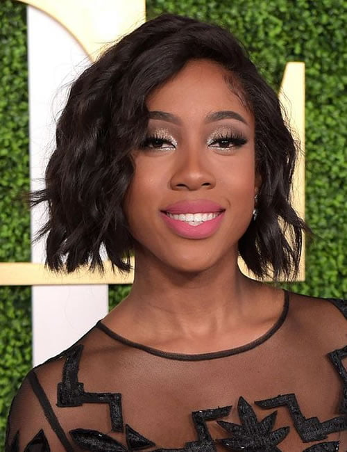 Bob hairstyle short wavy haircut black women 2020