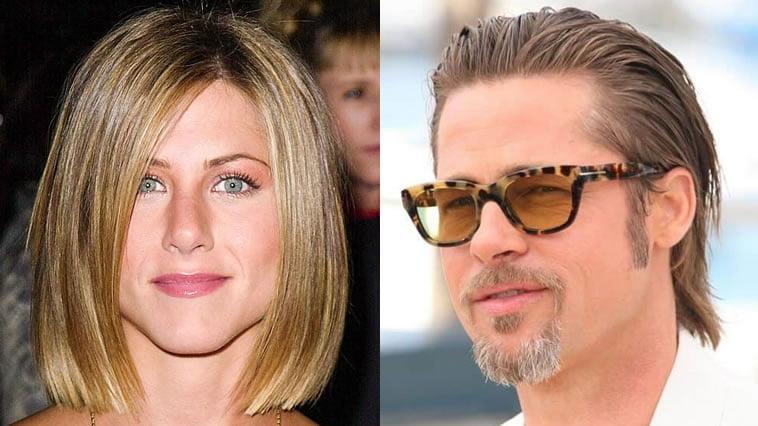 Brad Pitt & Jennifer Aniston hairstyles and haircuts 2019-2020