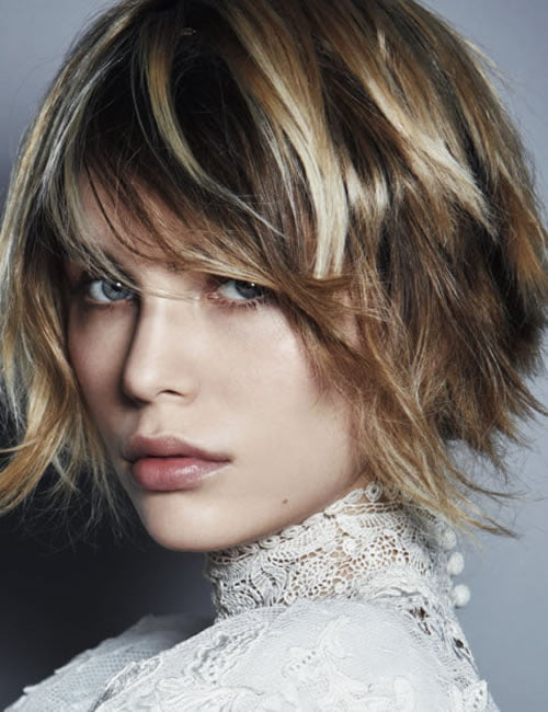 Brown balayage short bob hairstyle 2019-2020