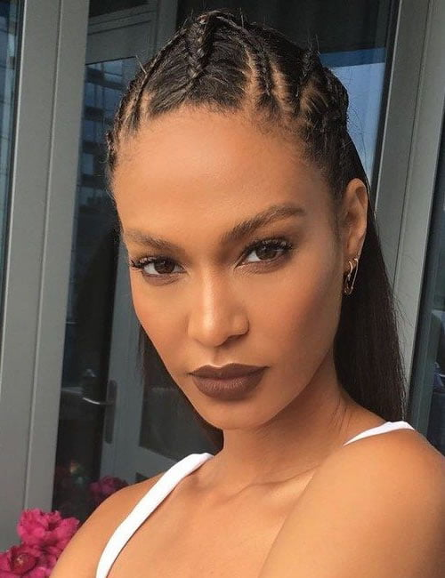 Cornrows hairstyles for women with long face 2019-2020