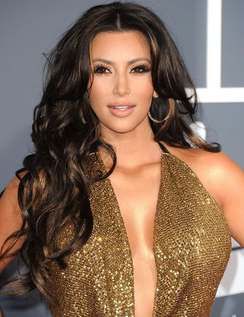 Curly long hair ideas - Kim Kardashian Hairstyles 2020