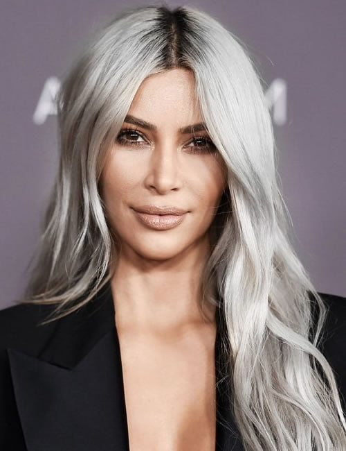 Grey Hair colors - Kim Kardashian Hairstyles 2020