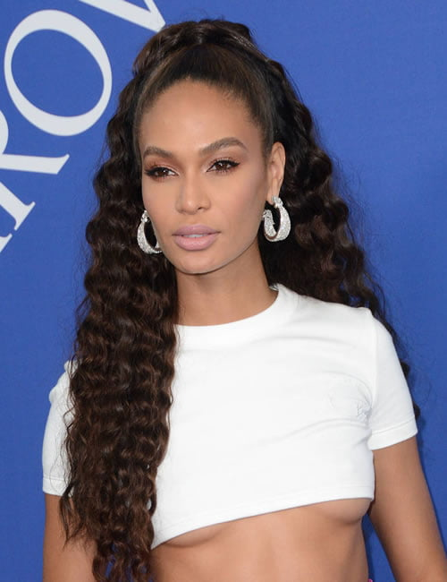 Joan Smalls high ponytail hairstyles