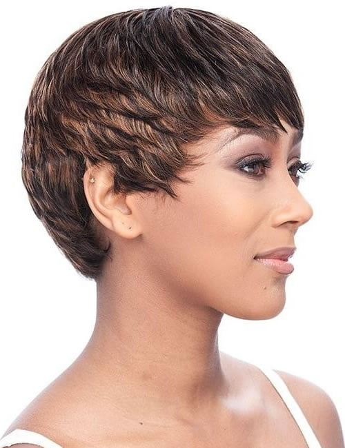 Latest pixie hairstyle for black women 2019-2020