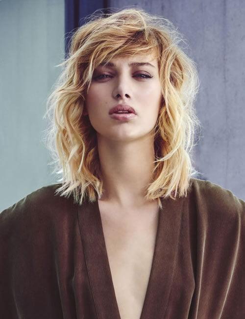 medium length hairstyle blonde hair color 2019-2020