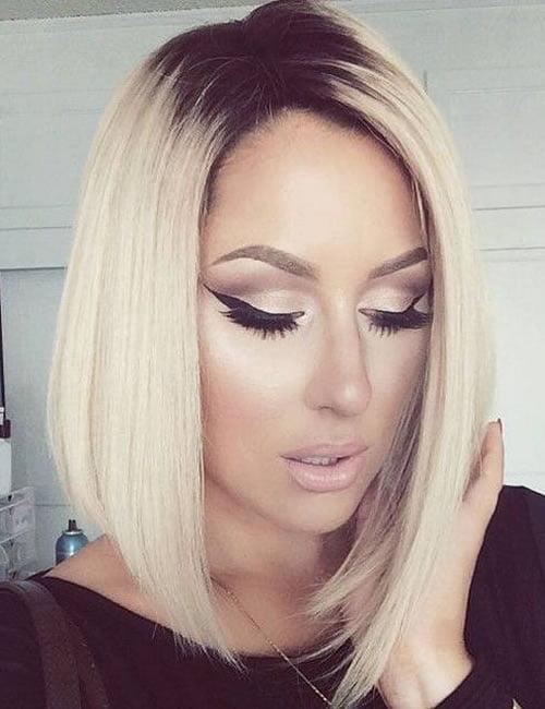 bob haircut blonde balayage hair color 2019-2020