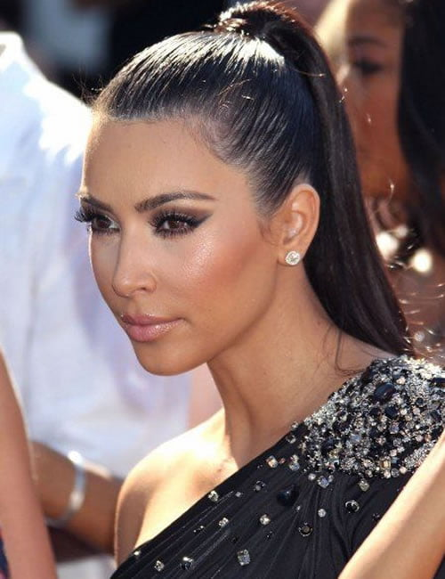 Ponytail hairstyles 2019-2020 Kim Kardashian Hair