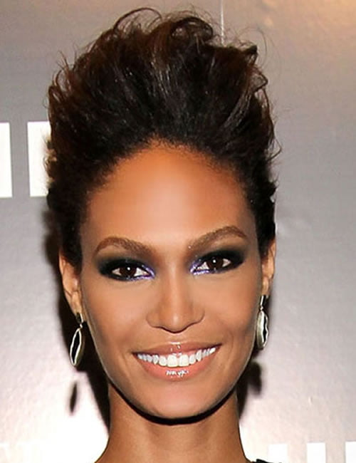 Short updo hairstyle Joan Smalls 2019-2020