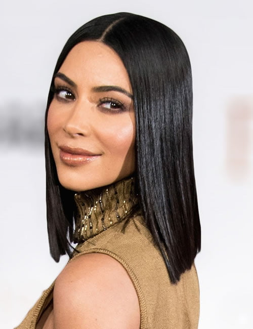 Straight hairstyle medium length hair 2019-2020