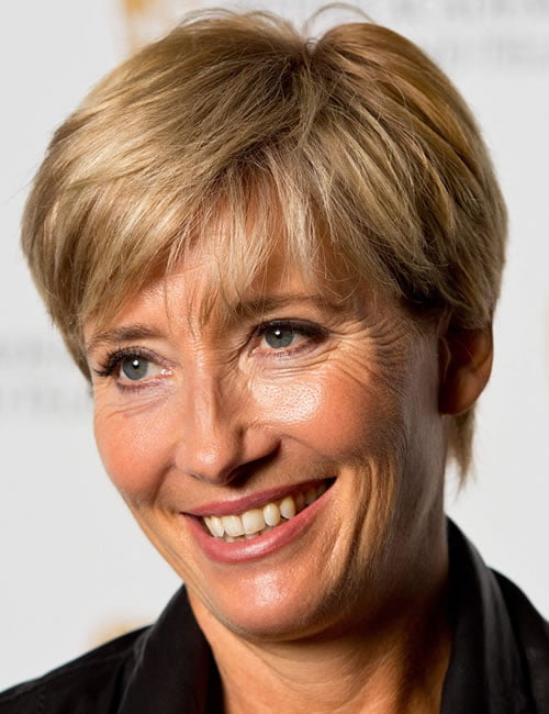 emma thompson brown hair color