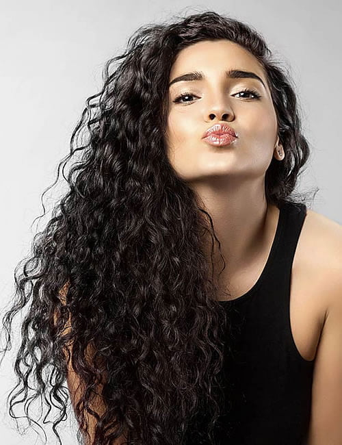 Black hair color 2020 long curly hairstyles for women