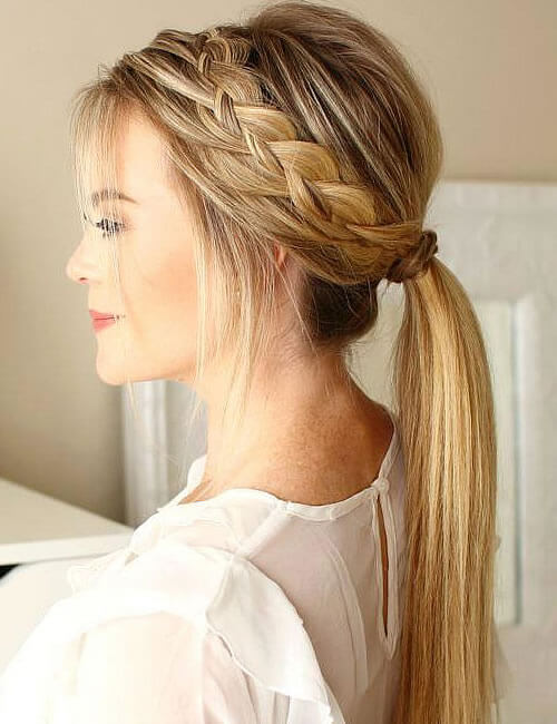Braids ponytail long hair for women