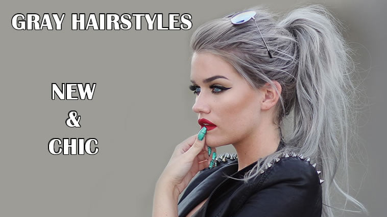Gray ponytail hairstyle for women 2020 - 2021