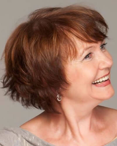 Chic short hairstyle for women over 60