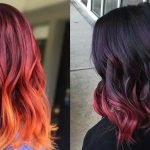 Red ombre hair colors 2020
