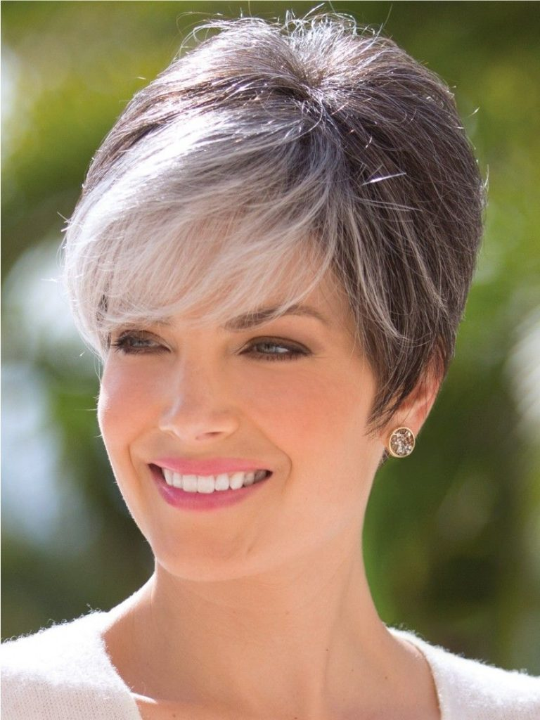 Short Gray Hairstyles for Older Women Over 50 - Gray Hair Colors 2021-2022 - HAIRSTYLES