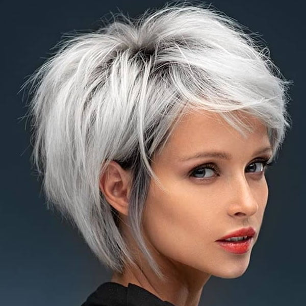 Short grey haircuts for women in 2021-2022