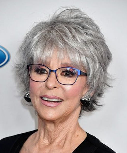 Hairstyles for women over 50 with glasses in 2021-2022